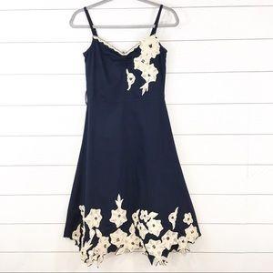 Anthropologie Odille Beaded Appliqué Dress.